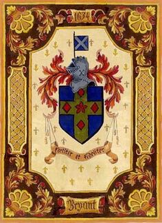 Bryant Family Crest - My Mom's mother's side