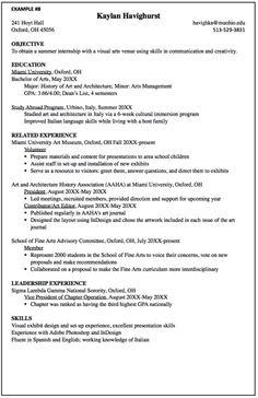 visual arts resume sample httpexampleresumecvorgvisual arts - Drafting Resume Examples