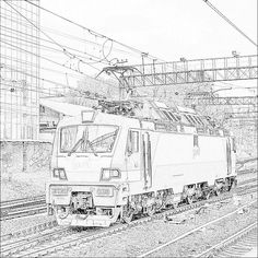 Locomotive in Moscow