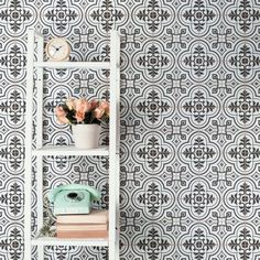 Need some bathroom tile ideas? Check out our Harmonia Kings Star 13x13 Patterned Tile in Sky! This ceramic encaustic-inspired tile similarly features a unique, low-sheen glaze with centered star patterns in each square. It starts at $11.99 SQ FT.
