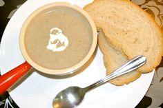 Easy Mushroom Soup, Mushroom Soup Recipes, Homemade Soup, My Recipes, Stuffed Mushrooms, Eat, Stuff Mushrooms