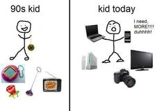 Image result for kids now vs kids back then