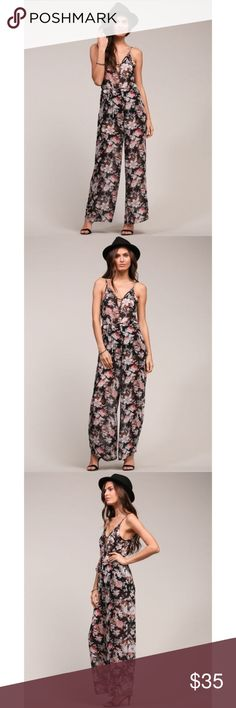 "Ditsy Floral Print Jumpsuit Super cute bohemian floral jumpsuit. Fully lined thigh to bust as is semi sheer and flowy. True to size. Quality fabrication and designed in Los Angeles.   100% Polyester   ✖️No trades, thank you!   Bundles welcome!   Reasonable best offer considered when submitted with the ""offer"" button   My measurements in Bio  Happy poshing and please let me know how I can better serve you! Dresses Maxi"