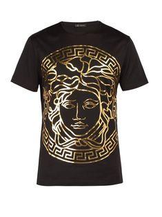 a9570e2e0 Versace Medusa Gold Print T Shirt - Mens - Black Gold