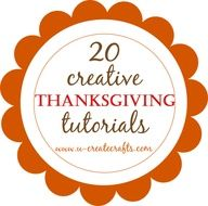 Ucreate: Linda's List: 20 Creative Thanksgiving Tutorials