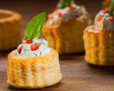 Vol Au Vent, Finger Foods, Entrees, Pineapple, Sandwiches, Cheesecake, Pudding, Restaurant, Snacks