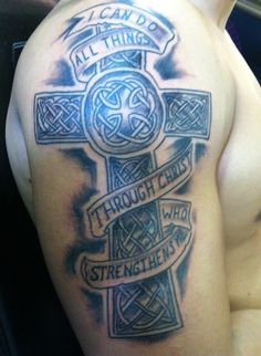 cross tattoo christ arm guy tattoos the devils den copiague