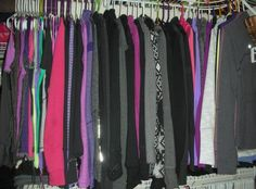 Closet filled with Lululemon