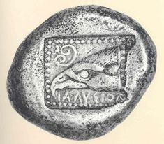 Ialysos,Rhodos.Silver stater c. 500 BC. Head of an eagle