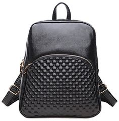 Coolcy New Fashion Casual Women Genuine Leather Backpack Black * You can get additional details at the image link.