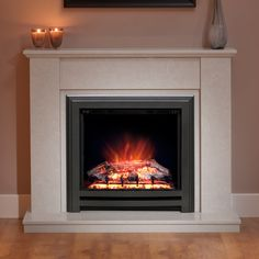 Cotsmore Electric Fireplace - Available in Manila micro marble.