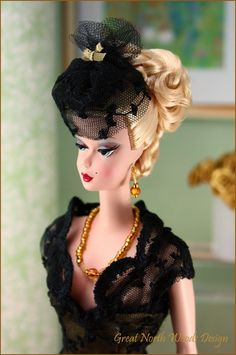 "Silkstone Barbie Capucine wearing ""Nocturne"" by Great North Woods Design"