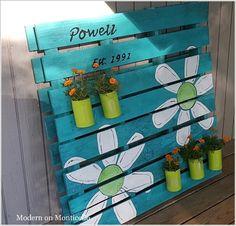 Pallet Sign Garden Planter