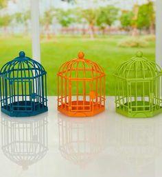 Spring Birdcage Lantern, 3 Assorted