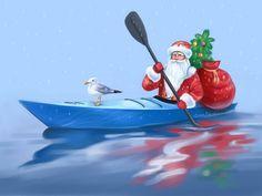 #NewYear #Santa #SeaKayak #Shrike #SrikeKayak #Paint #Christmas  #ДедМороз