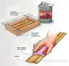Make a Custom Sanding Block - Sanding Tips, Jigs and Techniques | WoodArchivist.com