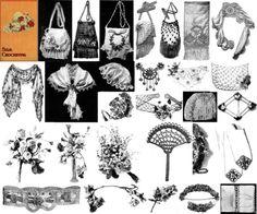 Antique Edwardian Purse Floral Crochet Pattern SC Book 1910 $14.99  (want)
