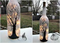На первый взгляд, пустые стеклянные бутылки нам уже не нужны. Но не торопитесь их выбрасывать. Взгляните на эти затейливые декорации. Возможно, вы найдете время украсить свой дом этими уютными мелочам