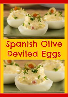 We think everyone should be able to add a little fancy to their food, which is why we came up with this great recipe for Spanish Olive Deviled Eggs!