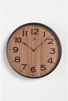 wood grain clock