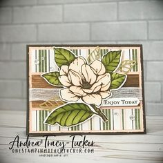 One Stampin' Mother Tucker: Paper Craft Crew 335 Sketch Challenge Magnolia Flower, Magnolia Book, Magnolia Wreath, Magnolia Stamps, Stampin Up Catalog, Ppr, Stamping Up Cards, Card Sketches, Paper Cards