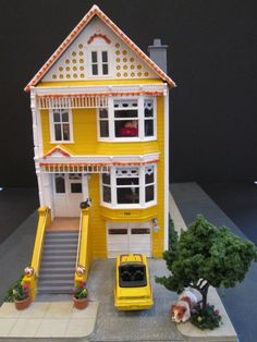 "San Francisco ""Painted Lady Victorian House"" Model I made and it won second place in the Marin County Fair this year."