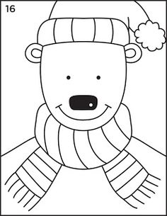 How to draw a snow bear Art Projects for Kids: 1st grade