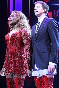 Billy Porter and Stark Sands on opening night of KINKY BOOTS