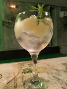 Gintonic with melon and mint in Lab Valencia