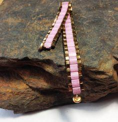 Rose Pink Bracelet  Mauve Bracelet  Pink Bracelet for by JBTilas