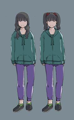 """""""先日のヘアスタイルと衣装の絵を分けました  #BABYMETAL"""""""