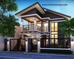 Simple 2 Storey House Design In The Philippines Minimalist House Design, Modern House Design, Style At Home, Modern House Philippines, Bungalow Haus Design, Residential Building Design, Philippine Houses, 2 Storey House Design, Facade House