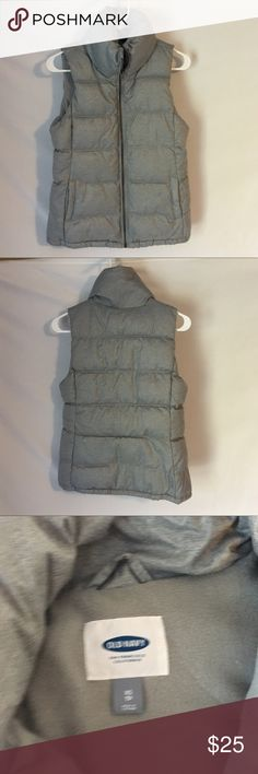 Brand New Old Navy Puffy Vest Super comfy and only worn once.  Pretty light gray. Old Navy Jackets & Coats Vests