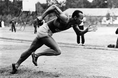 In the 1936 Berlin Olympics Jesse Owens won 4 Gold Medals which Hitler refused to acknowledge. 1936 Olympics, Summer Olympics, Berlin Olympics, Jesse Owens, Long Jump, Olympic Athletes, Sport Icon, Black Celebrities, Sports Stars