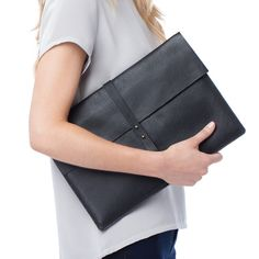 diy inspo: Leather Laptop Sleeves Black