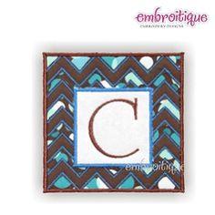 Chevron Square Font Frame Applique - 4 Sizes! | Font Frames | Machine Embroidery Designs | SWAKembroidery.com Embroitique