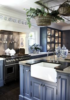Coastal Blue Paint by General Finishes...brighter than Benjamin Moore's Hale Navy, but every bit as sophisticated!