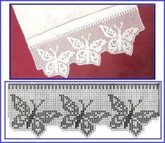 Ideas Knitting Lace Stitches Double Crochet For 2019 Crochet Edging Patterns, Crochet Lace Edging, Crochet Motifs, Crochet Borders, Crochet Chart, Thread Crochet, Crochet Trim, Lace Knitting, Crochet Designs