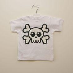 Camiseta Manga Corta Blanca Calavera Espalda