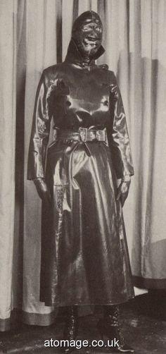 Latex, Rubber Raincoats, Rain Gear, Vintage Looks, Vintage Fashion, Superhero, Black And White, Retro, Pictures