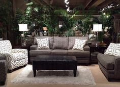 New sofa setting looks for 2015. #HPMKT