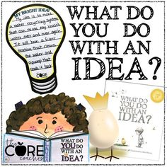Excellent companion activities for the book What Do You Do With an Idea?