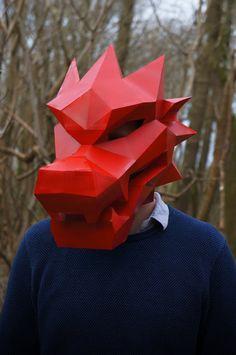 Build your own Chinese Dragon Mask par Wintercroft sur Etsy