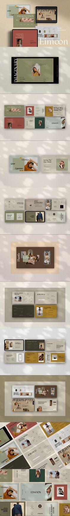 Eimoon Brand Powerpoint #ecomerce #presentation #presentation #process #pptkeynote #aschavinsco #agency #ppt #intention #welcomekit #mediainstagram #powerpoint #powerpointforbusiness #brandmanual #layout #book #themesforpowerpoint #minimalism #companybranding Presentation Design, Presentation Templates, Brand Manual, Keynote, Minimalism, Photoshop, Layout, Proposal, Letters