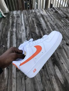 Air Force One x CDG Custom - Stand out in any crowd with these bold, unique customs! Nike Air Force Ones, Nike Shoes Air Force, Air Force 1, Sneakers Mode, Sneakers Fashion, Shoes Sneakers, Shoes Heels, Plain White Shoes, White Nike Shoes