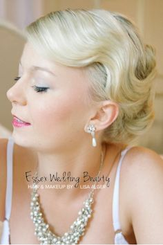 Vintage fingers waves hair and makeup wedding bridal by www.essexweddingbeauty.co.uk