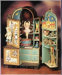"Enesco Action Music Box ""The Dream Keeper""  - Vintage 1989 Never used from Lynne's Collection Exclusively on Ruby Lane"