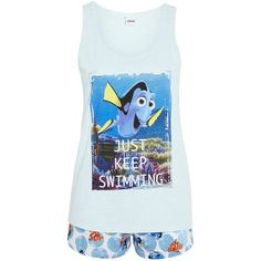 Disney Pixar Finding Nemo Shorts Pyjamas ($9.40) ❤ liked on Polyvore featuring intimates, sleepwear, pajamas, disney pjs, disney sleepwear, disney and disney pajamas