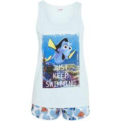 Disney Pixar Finding Nemo Shorts Pyjamas ($9.40) ❤ liked on Polyvore featuring intimates, sleepwear, pajamas, disney pjs, disney sleepwear, disney and disney pajamas