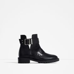LEATHER BIKER BOOTS WITH BUCKLES-View all-SHOES-WOMAN | ZARA United States